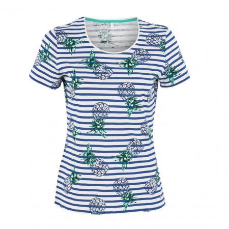 SALE %   Boss Casual   T-Shirt - fitted - Flowerprint   Blau online im Shop bei meinfischer.de kaufen