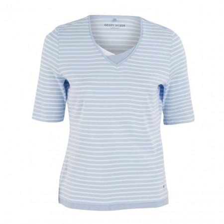 SALE % | Boss Casual | Jerseyshirt - Regular Fit - Stripes | Blau online im Shop bei meinfischer.de kaufen