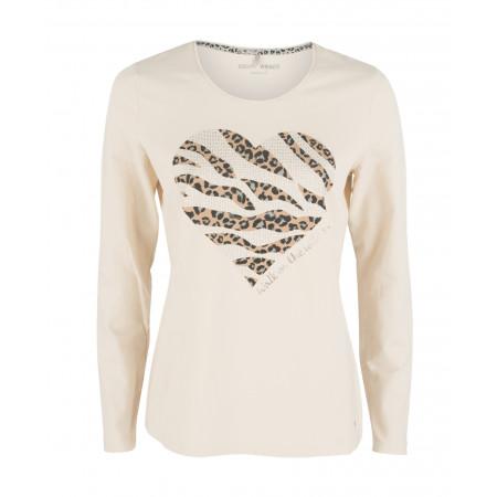 SALE % | Boss Casual | Jerseyshirt - Regular Fit - Strass | Weiß online im Shop bei meinfischer.de kaufen