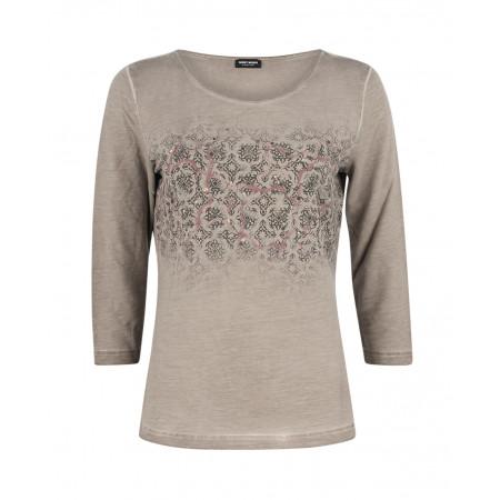 SALE % | Boss Casual | Jerseyshirt mit Paillettendekor | Grau online im Shop bei meinfischer.de kaufen