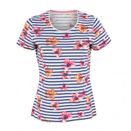 SALE % | Boss Casual | T-Shirt - fitted - Flowerprint | Blau online im Shop bei meinfischer.de kaufen