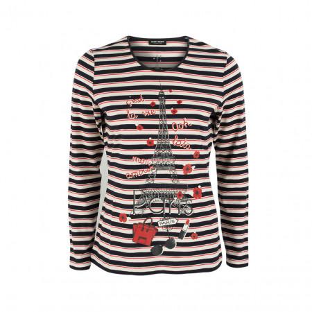 SALE % | Boss Casual | Longsleeve - Regular Fit - Stripes | Rot online im Shop bei meinfischer.de kaufen