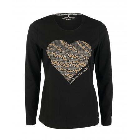 SALE % | Boss Casual | Jerseyshirt - Regular Fit - Strass | Schwarz online im Shop bei meinfischer.de kaufen