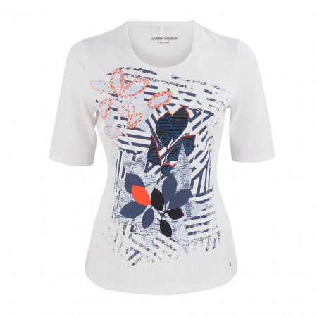 SALE % | Boss Casual | Shirt - Regular Fit - Frontprint | Weiß online im Shop bei meinfischer.de kaufen