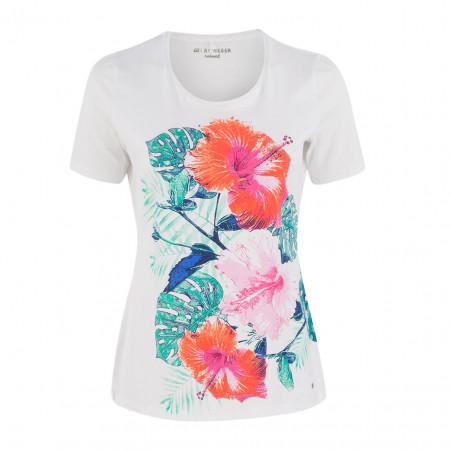 SALE % | Boss Casual | T-Shirt - fitted - Print | Weiß online im Shop bei meinfischer.de kaufen