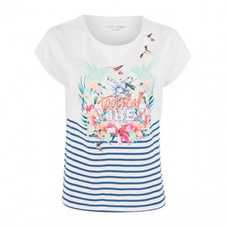 SALE % | Boss Casual | T-Shirt - Regular Fit - Frontprint | Weiß online im Shop bei meinfischer.de kaufen