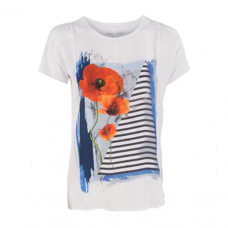 SALE % | Boss Casual | T-Shirt - Regular Fit - Vokuhila | Weiß online im Shop bei meinfischer.de kaufen