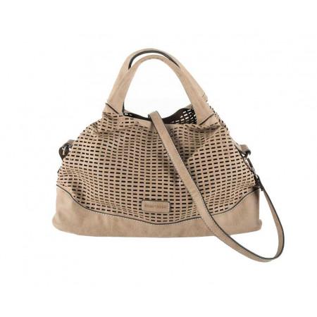 SALE % | Boss Casual | Handtasche mit Perforation | Beige online im Shop bei meinfischer.de kaufen