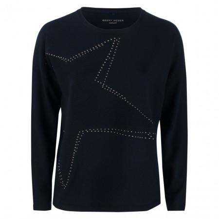 SALE % | Gerry Weber Casual | Pullover - Regular Fit - Star | Blau online im Shop bei meinfischer.de kaufen
