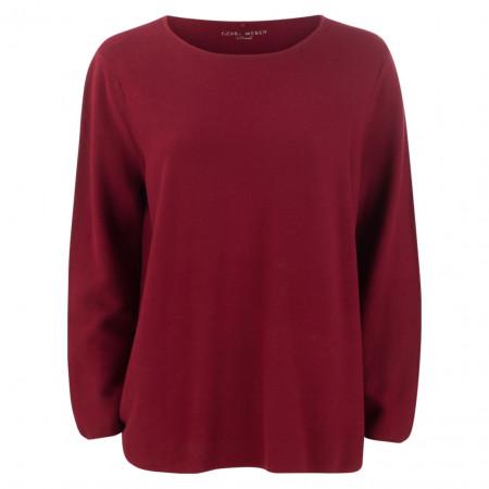 SALE % | Gerry Weber Casual | Pullover - oversized - Ziernaht | Rot online im Shop bei meinfischer.de kaufen