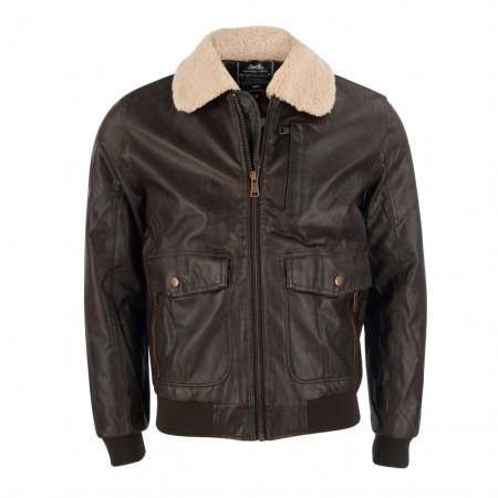 SALE % | Gianni Lupo | Jacke - Regular Fit - Leder-Optik | Braun online im Shop bei meinfischer.de kaufen