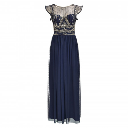 SALE % | Hailey Logan | Kleid - Regular Fit - Pailletten | Blau online im Shop bei meinfischer.de kaufen
