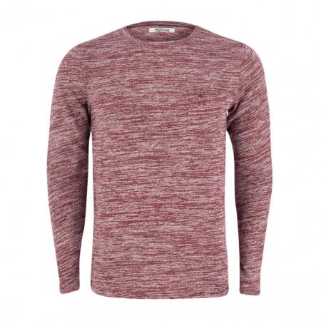 SALE % | Tommy Jeans | Pullover - Regular Fit - Melange-Optik | Rot online im Shop bei meinfischer.de kaufen