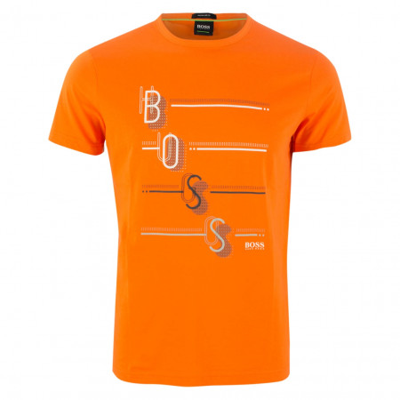 SALE % | Boss Athleisure | T-Shirt - Regular Fit - Crewneck | Orange online im Shop bei meinfischer.de kaufen