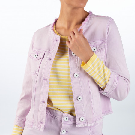 SALE %   Taifun   Jeansjacke - Regular Fit - Unifarben   Lila online im Shop bei meinfischer.de kaufen