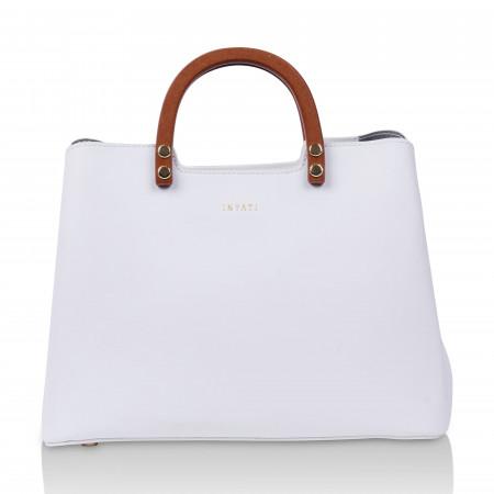 SALE %   Inyati   Tasche - Inita - Holzgriffe   Weiß online im Shop bei meinfischer.de kaufen