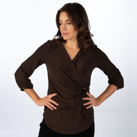 SALE %   Joseph Ribkoff   Shirt - Regular Fit - 1/1 Arm   Braun online im Shop bei meinfischer.de kaufen