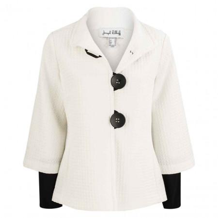 SALE % | Joseph Ribkoff | Blazer - fitted - Struktur | Weiß online im Shop bei meinfischer.de kaufen