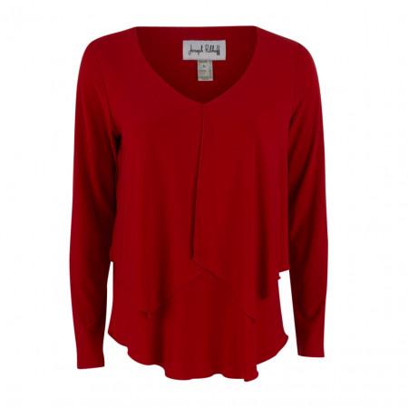 SALE % | Boss Casual | Bluse - Regular Fit - Zierfalte | Rot online im Shop bei meinfischer.de kaufen