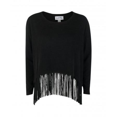 SALE % | Joseph Ribkoff | Pullover - oversized - Fransen | Schwarz online im Shop bei meinfischer.de kaufen