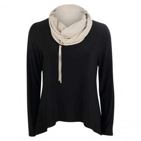 SALE % | Joseph Ribkoff | Shirt - Comfort Fit - Schalkragen | Schwarz online im Shop bei meinfischer.de kaufen