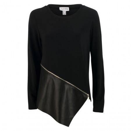 SALE % | Joseph Ribkoff | Shirt - Comfort Fit - Leder-Optik | Schwarz online im Shop bei meinfischer.de kaufen