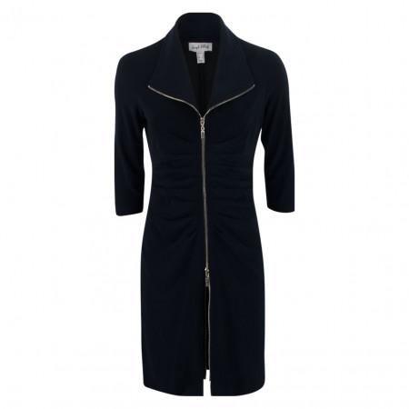 SALE % | Joseph Ribkoff | Kleid - Regular Fit - Zipper | Blau online im Shop bei meinfischer.de kaufen