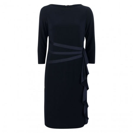 SALE % | Joseph Ribkoff | Kleid - Slim Fit - Volants | Blau online im Shop bei meinfischer.de kaufen
