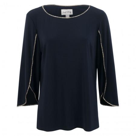 SALE % | Joseph Ribkoff | Shirt - Regular Fit - Steinchen | Blau online im Shop bei meinfischer.de kaufen