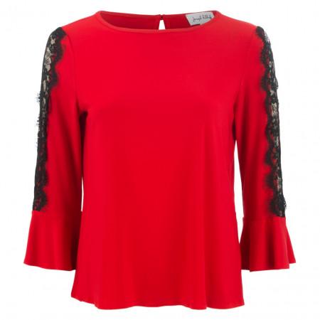 SALE % | Joseph Ribkoff | Shirt - Regular Fit - Spitze | Rot online im Shop bei meinfischer.de kaufen