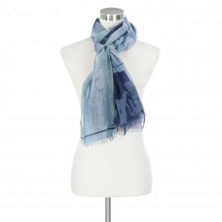 SALE % | LeComte | Schal - Muster | Blau online im Shop bei meinfischer.de kaufen