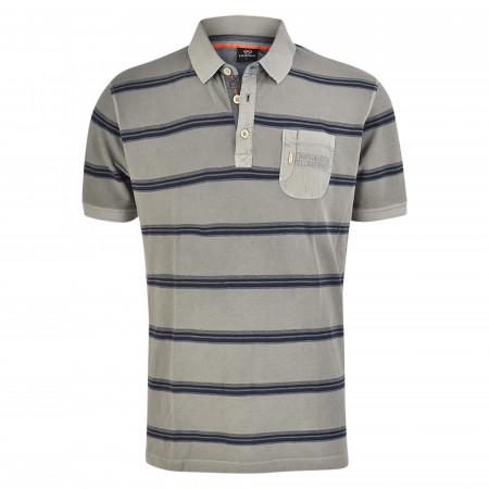SALE % | Lerros | Poloshirt - Regular Fit -  Stripes | Grau online im Shop bei meinfischer.de kaufen