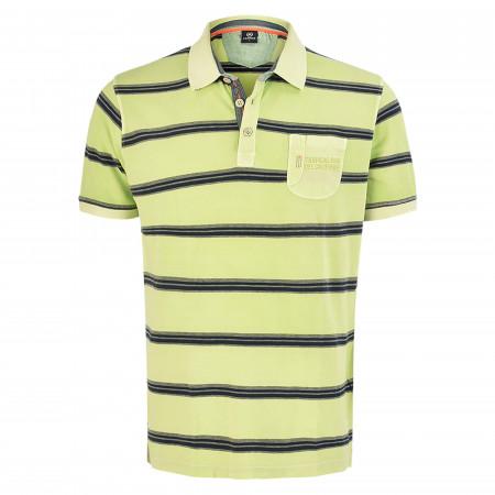 SALE % | Lerros | Poloshirt - Regular Fit -  Stripes | Grün online im Shop bei meinfischer.de kaufen