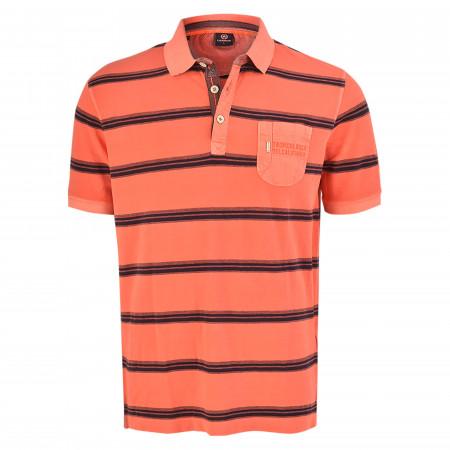 SALE % | Lerros | Poloshirt - Regular Fit -  Stripes | Orange online im Shop bei meinfischer.de kaufen