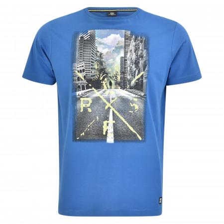 SALE %   Lerros   T-Shirt - Regular Fit - Print   Blau online im Shop bei meinfischer.de kaufen