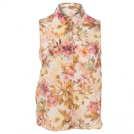 Hemdbluse - Regular Fit - Flower-Print