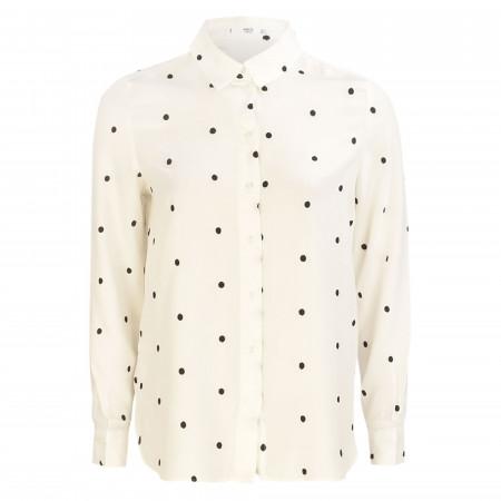 SALE % | MANGO | Hemdbluse - Loose Fit - Music | Weiß online im Shop bei meinfischer.de kaufen