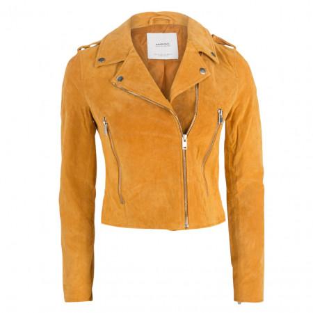 SALE % | MANGO | Lederjacke - fitted - Zipper | Gelb online im Shop bei meinfischer.de kaufen