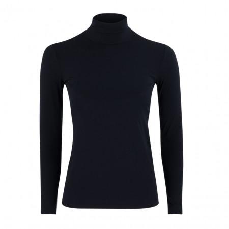 SALE % | Marc Cain | Basicshirt - Slim Fit - Stretch - Rolli | Blau online im Shop bei meinfischer.de kaufen