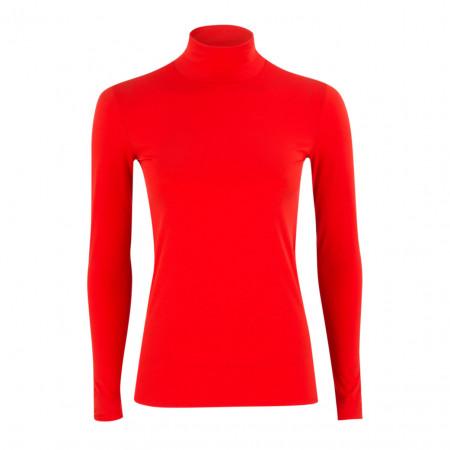 SALE % | Marc Cain | Basicshirt - Slim Fit - Stretch - Rolli | Rot online im Shop bei meinfischer.de kaufen