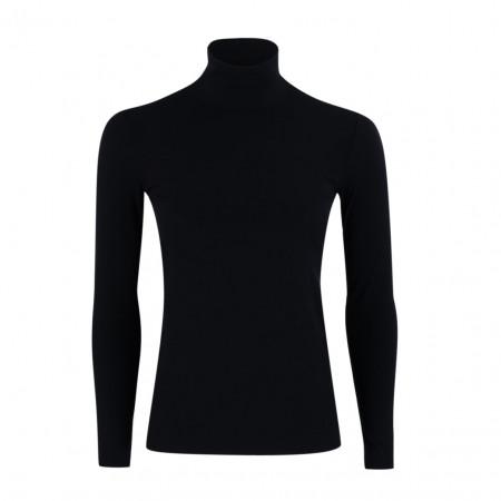SALE % | Marc Cain | Basicshirt - Slim Fit - Stretch - Rolli | Schwarz online im Shop bei meinfischer.de kaufen