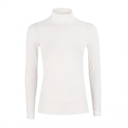 SALE % | Marc Cain | Basicshirt - Slim Fit - Stretch - Rolli | Weiß online im Shop bei meinfischer.de kaufen