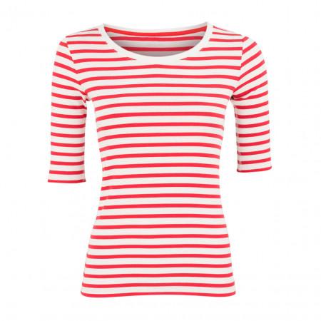 SALE %   Marc Cain   Shirt - Slim Fit - Stripes   Rot online im Shop bei meinfischer.de kaufen