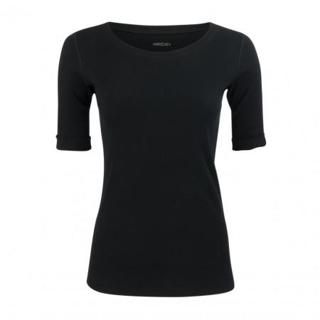 SALE % | Marc Cain | Shirt - Slim Fit - unifarben | Schwarz online im Shop bei meinfischer.de kaufen