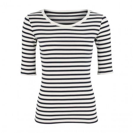 SALE % | Marc Cain | Shirt - Slim Fit - Stripes | Blau online im Shop bei meinfischer.de kaufen