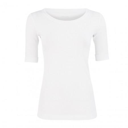 SALE % | Marc Cain | Shirt - Slim Fit - unifarben | Weiß online im Shop bei meinfischer.de kaufen