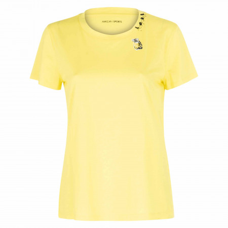 SALE % | Marc Cain | T-Shirt Regular Fit - Pailletten | Gelb online im Shop bei meinfischer.de kaufen