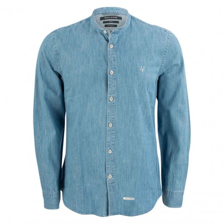 SALE %   Marc O'Polo   Denimhemd - Shaped Fit - Crewneck   Blau online im Shop bei meinfischer.de kaufen