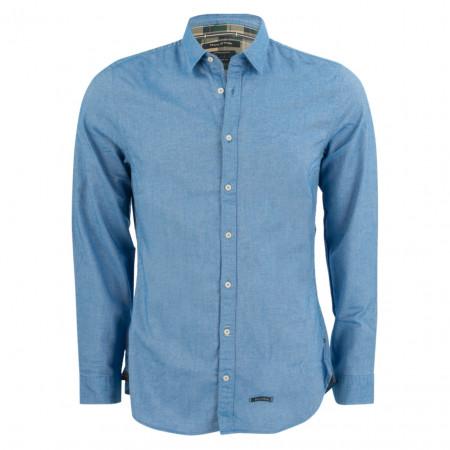 SALE % | Marc O'Polo | Jerseyhemd - Shaped Fit - Classic Kent | Blau online im Shop bei meinfischer.de kaufen