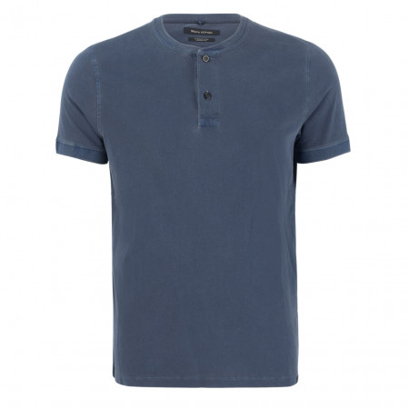 SALE % | Marc O'Polo | Henleyshirt - Shaped Fit - Crewneck | Blau online im Shop bei meinfischer.de kaufen